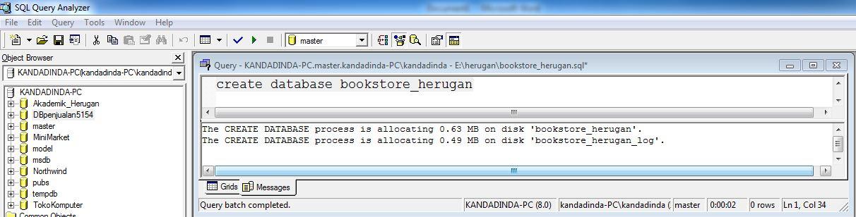 Membuat Database Toko Buku