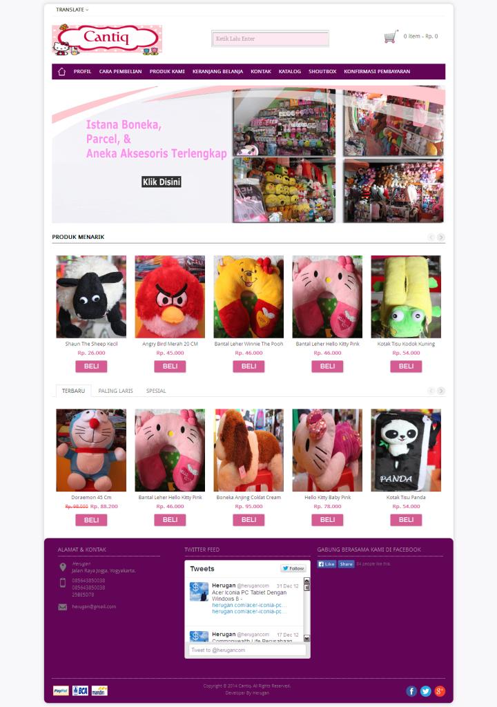 Homepage Toko Online