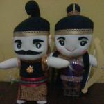 Souvenir Boneka_Gatotkaca & Srikandi Wayang