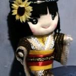 boneka jepang kimono