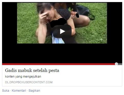 mallware gadis mabuk di facebook