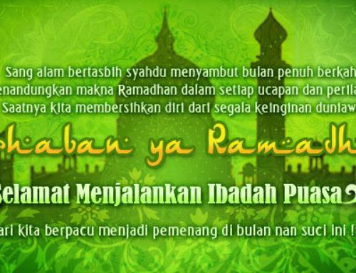 Marhaban Ya Ramadhan 1436 H, Selamat Berpuasa
